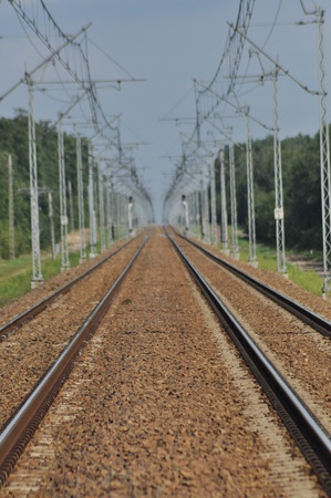 traction: The railway line. Electric traction. Tracks for trains