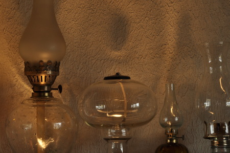 mantelpiece: Oil lamps. Ornament on the mantelpiece. Light source. The Middle Ages.