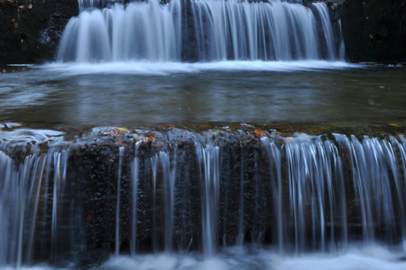 transience: Source Vistula. Crystalline stream, clean water and waterfall