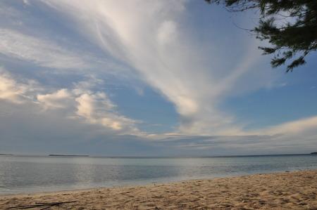 Tropical island with a beautiful beach in Indonesia. Karimunjawa.