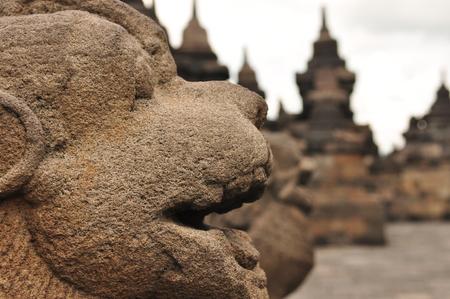 inscribed: Borobudur, a Buddhist temple in Yogyakarta inscribed on the UNESCO heritage list