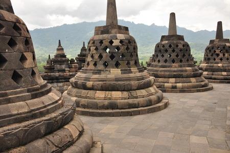 Borobudur, a Buddhist temple in Yogyakarta inscribed on the UNESCO heritage list