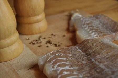 Fillet of fish. Dish, main dish. Fasting food seasoning