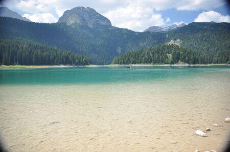Black lake in the Durmitor mountains near Zabljak. A beautiful place in Montenegro
