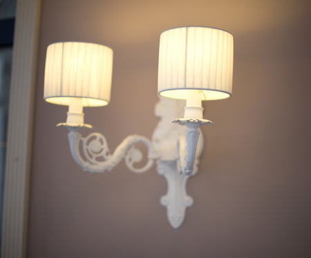 sconce: Classic sconce on the wall in fisheye
