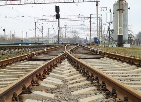 turnouts: Railway station and cargo train