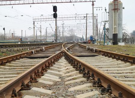 railway: Railway station and cargo train