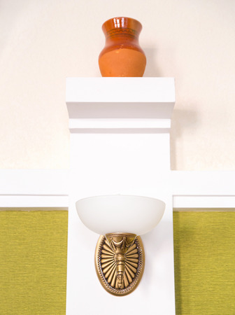 sconce: Classic sconce on the modern room wall Stock Photo