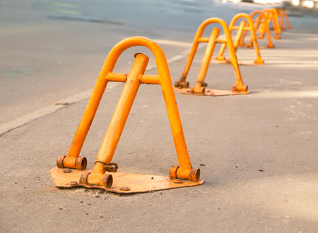 access restricted: Manual yellow road block, disabling access to the restricted area