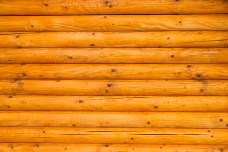 Wooden house made of new logs Standard-Bild