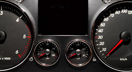 Speedometer, tachometer and fuel gauge set  Stock Photo