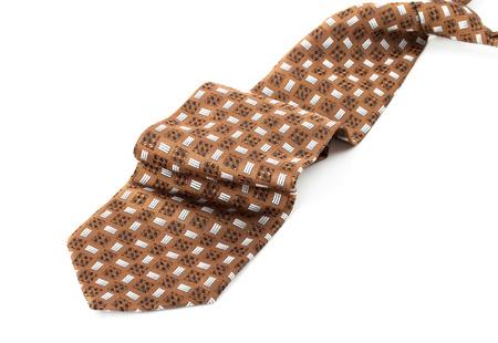 necktie: Brown necktie isolated on white