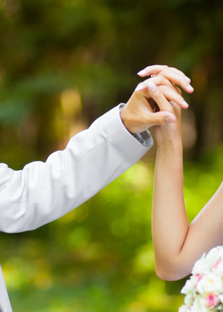 tenderness: Hands touch and tenderness