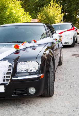 wedding cars near church or home