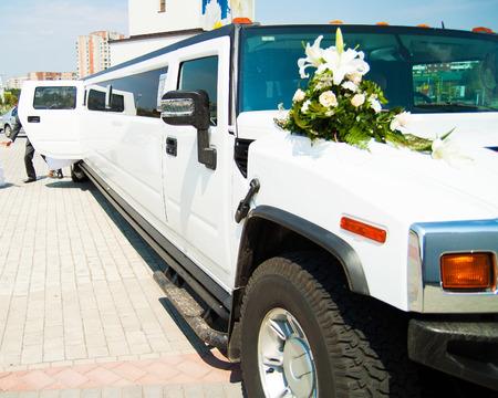 Wedding car near church
