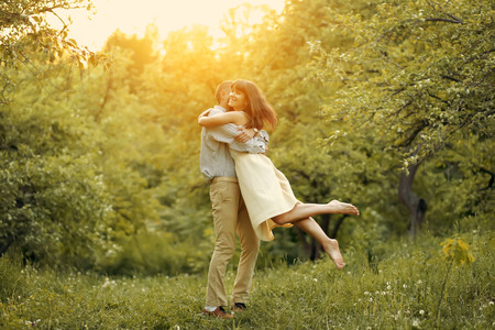 twirling: Happy Couple at Sunset