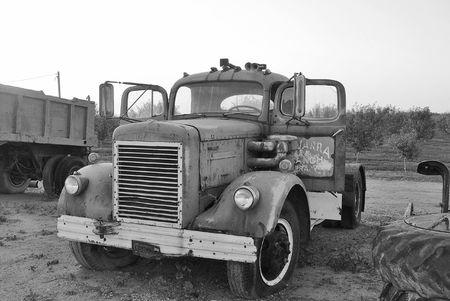 Old Truck Black & White Stock Photo