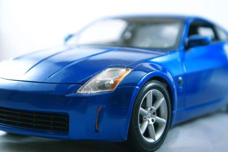 Blue sports car.