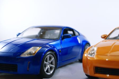 Two sports cars.          Stock Photo
