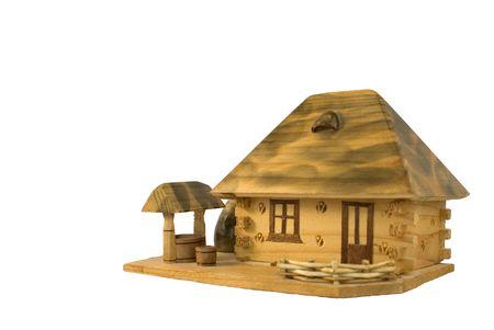 Village hut.  Traditional Ukrainian village hut.