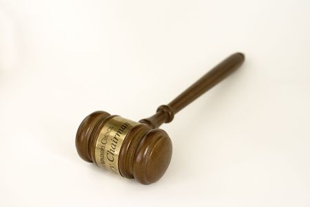 Gavel, used by judges, charimans, or auctioneers.
