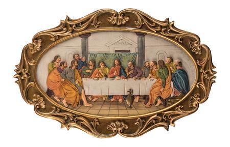santa cena: color de la imagen de la última cena Foto de archivo