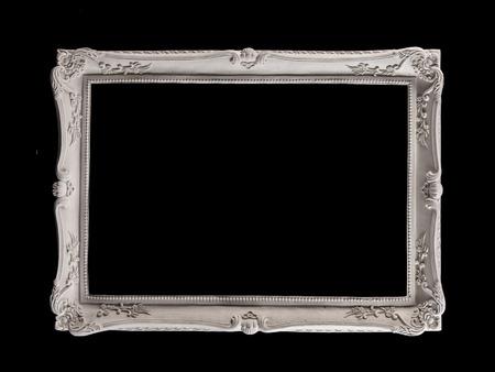 Bronze Plaster Frames Isolated On Black Background Stock Photo