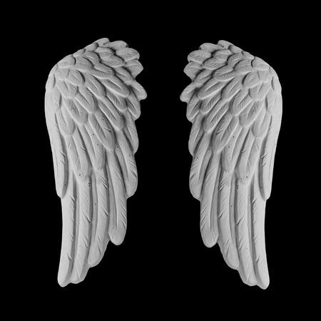 snění: bílá omítka křídla na černém pozadí