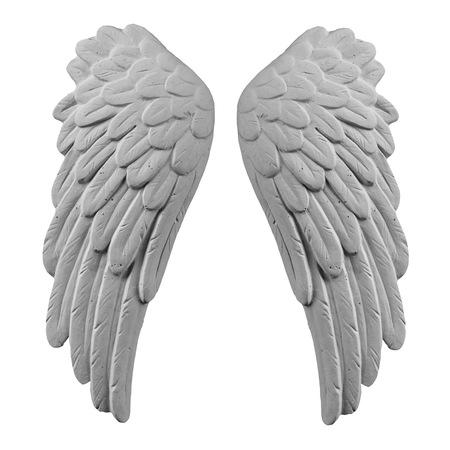 snění: Bílá omítka křídla na izolované bílém pozadí