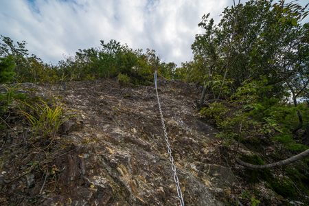 Chain of mountain trail