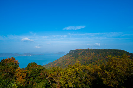 Yashima of colored leaves. Seto Inland Sea