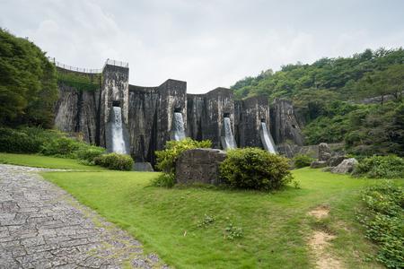 Hounen Pond Dam. Kanonji City, Kagawa Prefecture Imagens