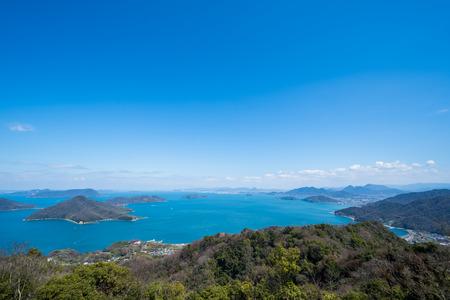 Seto Inland Sea. The View from Shamishima (Sakaide City, Kagawa Prefecture)