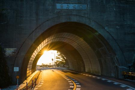 Sunset. Yashima Skyway (Takamatsu City, Kagawa Prefecture)