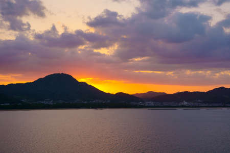Evening. . Seto Inland Sea(Sanuki City, Kagawa Prefecture)