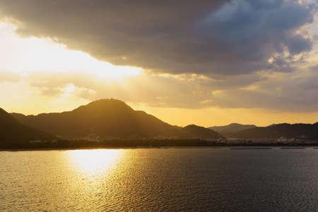 Evening sun. Seto Inland Sea(Sanuki City, Kagawa Prefecture)