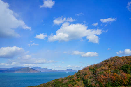 Late autumn Seto Inland Sea(Taken towards Shodoshima from Sanuki City, Kagawa Prefecture)