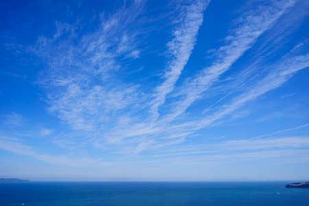 Seto Inland Sea and the sky(Taken from Sanuki City, Kagawa Prefecture) Stock Photo