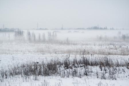 A rare weather phenomenon is fog in winter. The cold, the temperature drop