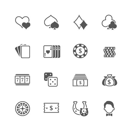 scalable: Flat vector casino icons set. Fully scalable Illustration