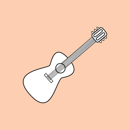 guitarra clásica: The guitar is a stringed musical instrument. Classical guitar symbol