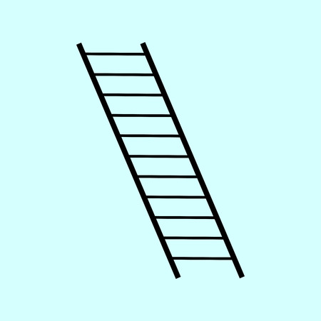 rungs: the ladder rungs. black and white symbol icon
