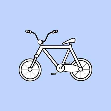 wheeled: Childrens two wheeled bike. Sports Hobbies skating movement transport ecology Illustration
