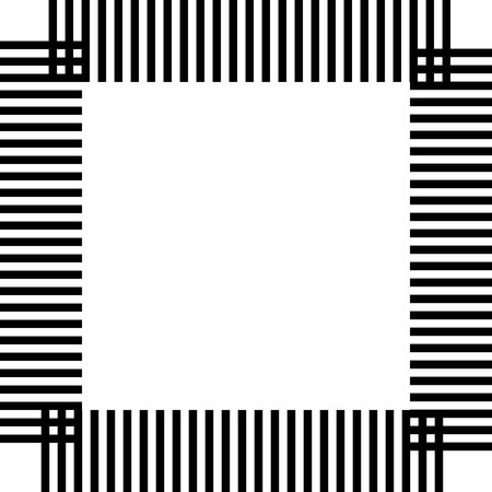 neutral: Black band square abstract geometric pattern. A neutral background Illustration