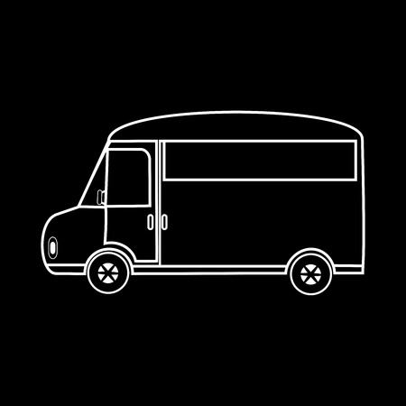 family van: Van for family outings and travel. The logo symbol icon Illustration