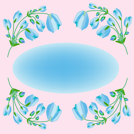 Blue poppies flowers floral background blue nature