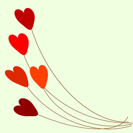 red balloons: Red heart balloons romantic background love relationship