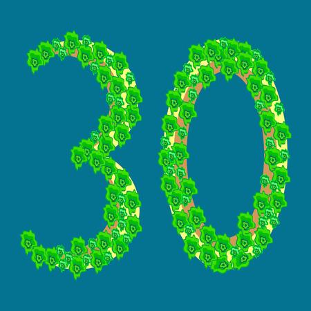 30: Figure thirty 30 anniversary celebration tropical island travel tourism vacation