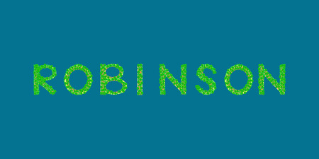 robinson: robinson Tropical Islands that form the text