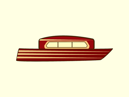 the boat on the river: